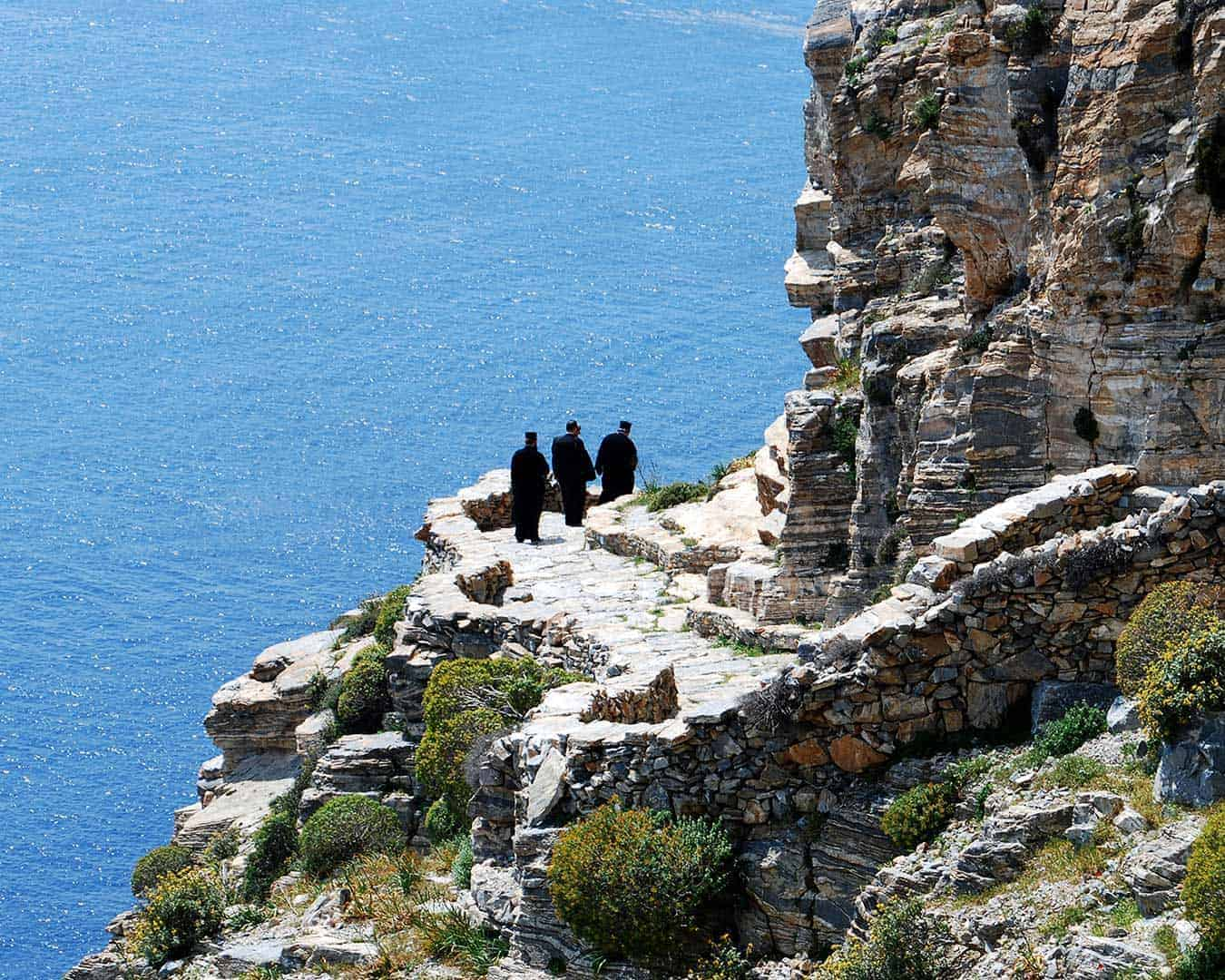 Choosoviotissa Monastery monks _ amorgos History & Culture