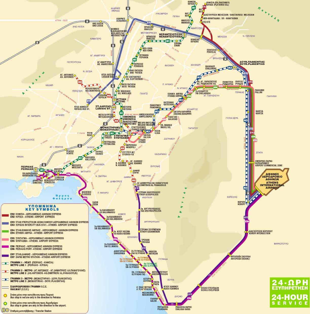 athens-express-bus-to-airport-map_aegialis hotel & spa